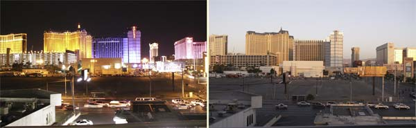 Las Vegas - night and day