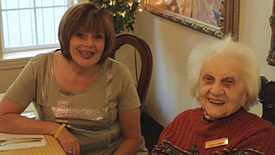 Patty & Addie at 93rd birthday party