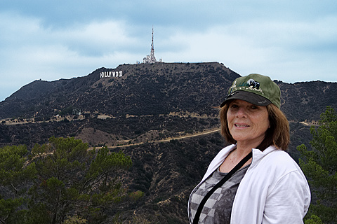Patty overlooking Hollywood sign