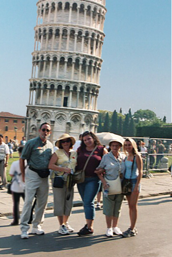 Group at Leaning Tower of Piza