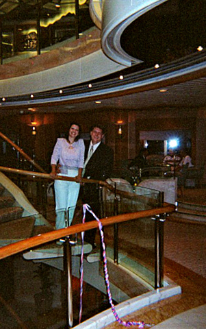 Sherry & Jeff in atrium