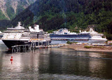 Juneau on the first day of cruising Alaska