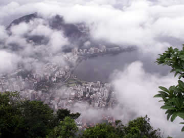 Looking down on Rio