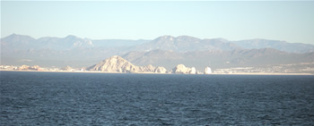 Passing Cabo San Lucas on the way home