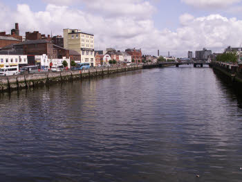 the River Lee in the middle of Cork