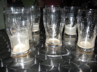 Guinness empty glasses