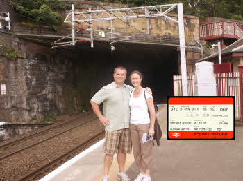 Matt & Julie at Greenock station