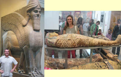 Matt & Julie with mummies