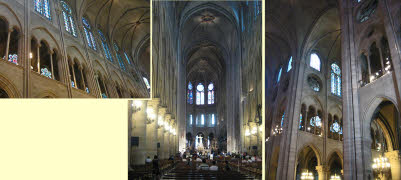 internal spaces in Notre Dame