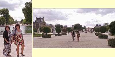 Patty & Danielle in the Tuileries Gardens