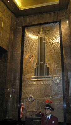 Entering the Empire State Building