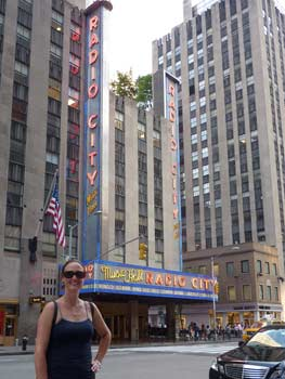 Julie in front of Radio City