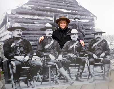 Patty with Mounties