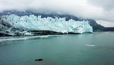 approaching Margerie Glacier