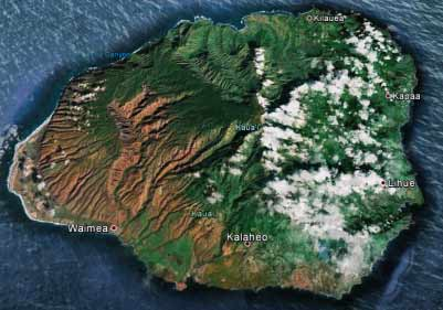 Kauai earth map