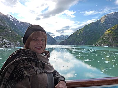 Patty at Tracy Arm