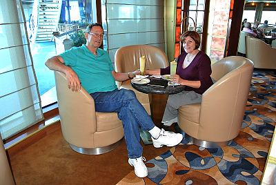 Craig & Patty in the Elite Lounge