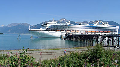 Grand Princess docked in Haines