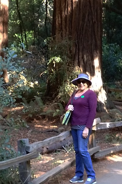 Patty in Muir Woods