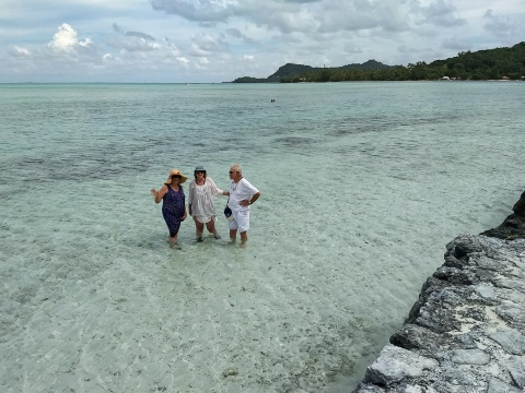 swimming in the beautiful South Pacific